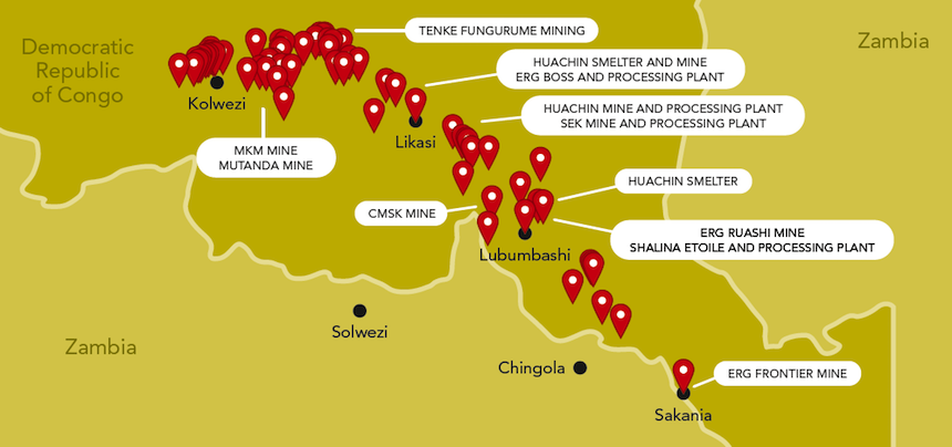 landkaart mining sites in congo 2