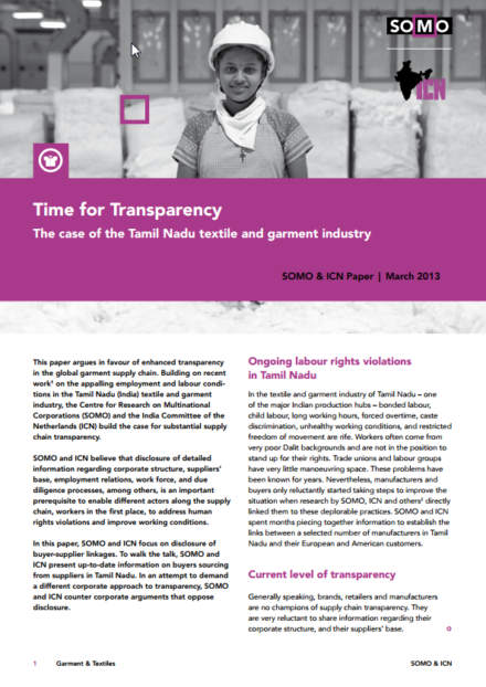 publication cover - Time for Transparency