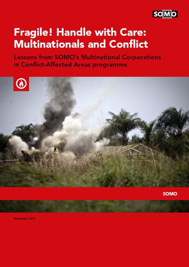 publication cover - Voorzichtigheid geboden! Multinationale ondernemingen en conflict