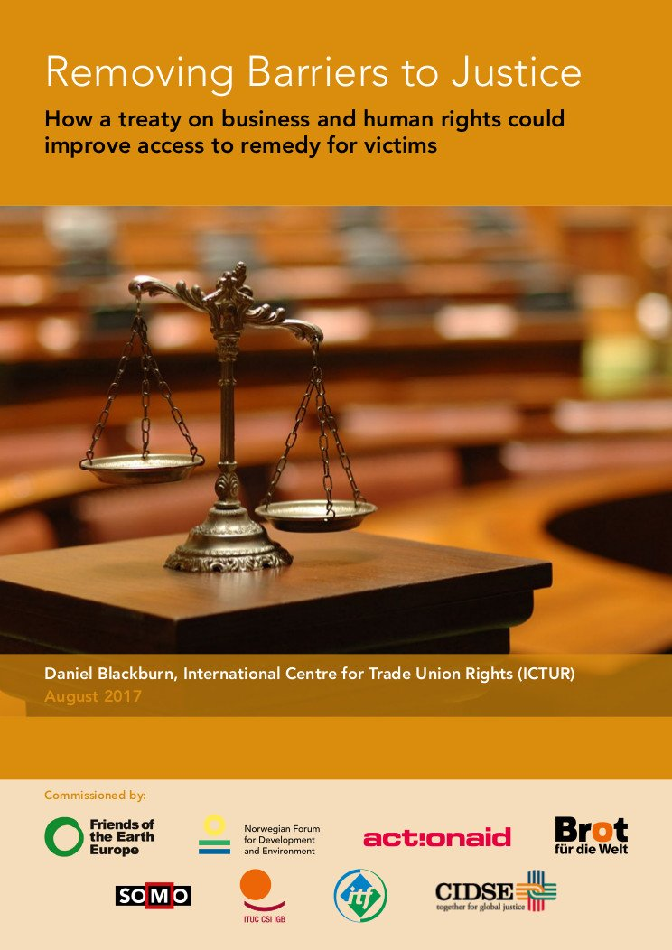 publication cover - Removing Barriers to Justice
