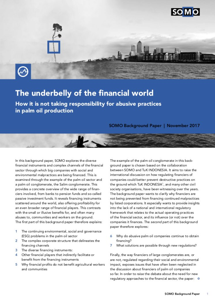publication cover - The underbelly of the financial world