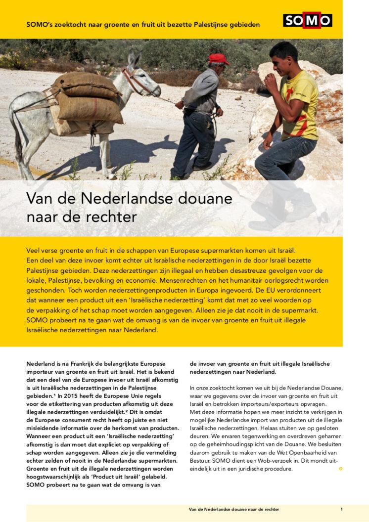 publication cover - Van de Nederlandse douane naar de rechter