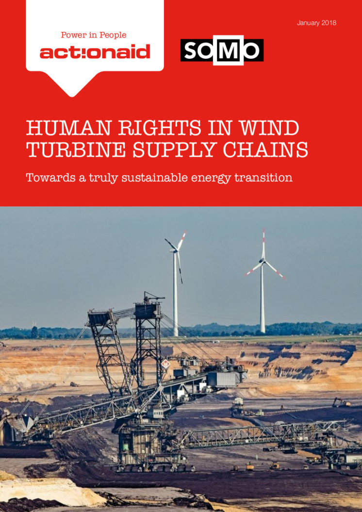 publication cover - Human rights in wind turbine supply chains