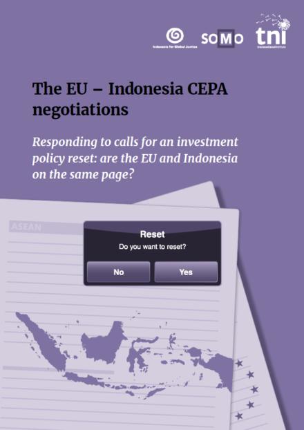 publication cover - De CEPA-onderhandelingen tussen de EU en Indonesië