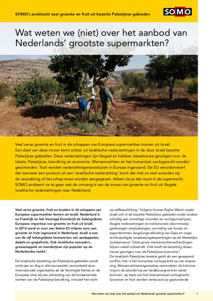 publication cover - Wat weten we (niet) over het aanbod van Nederlands' grootste supermarkten?