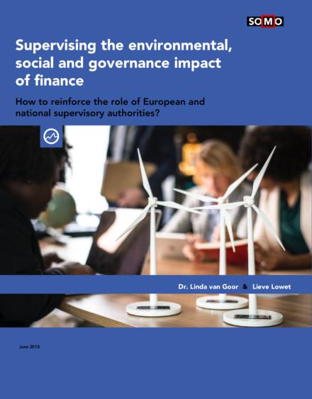 publication cover - Hoe kunnen financiele toezichthouders duurzaamheid integreren in hun werk?