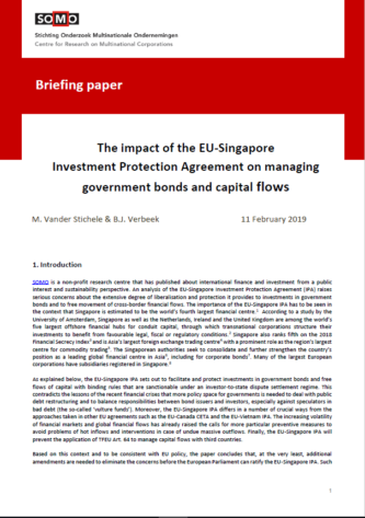 publication cover - Handelsverdrag tussen EU en Singapore