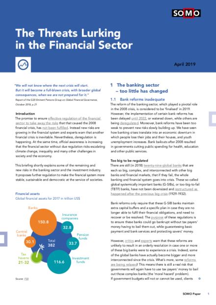 publication cover - Welke bedreigingen houden zich schuil in de financiële sector?