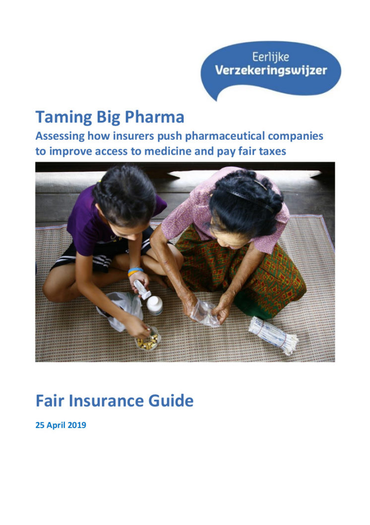 publication cover - Taming big Pharma