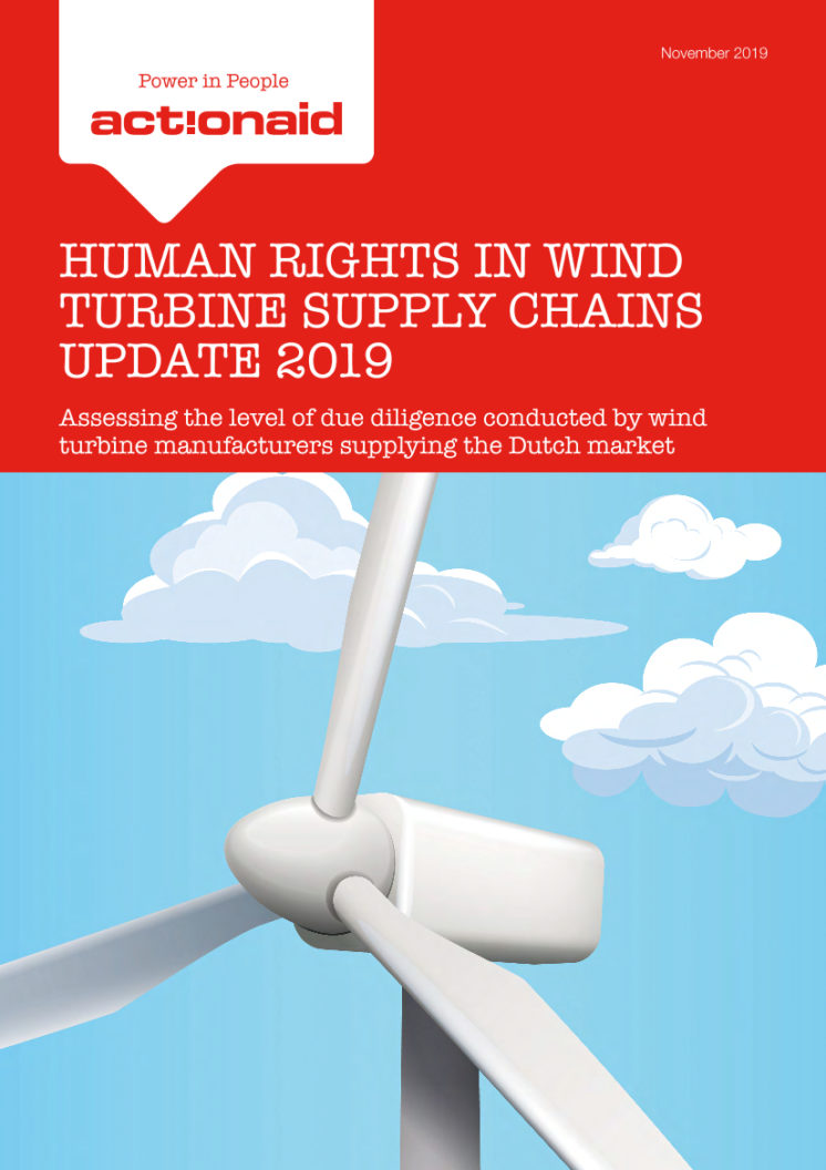 publication cover - Human rights in wind turbine supply chains – update 2019