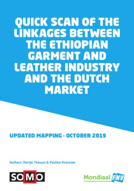 publication cover - Quick scan of the linkages between the Ethiopian garment and leather industry and the Dutch market