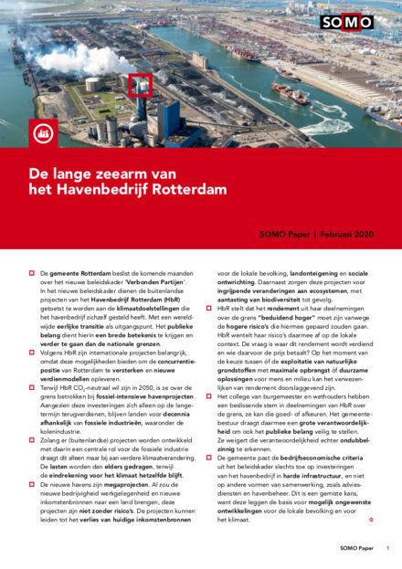 publication cover - De lange zeearm van het Havenbedrijf Rotterdam