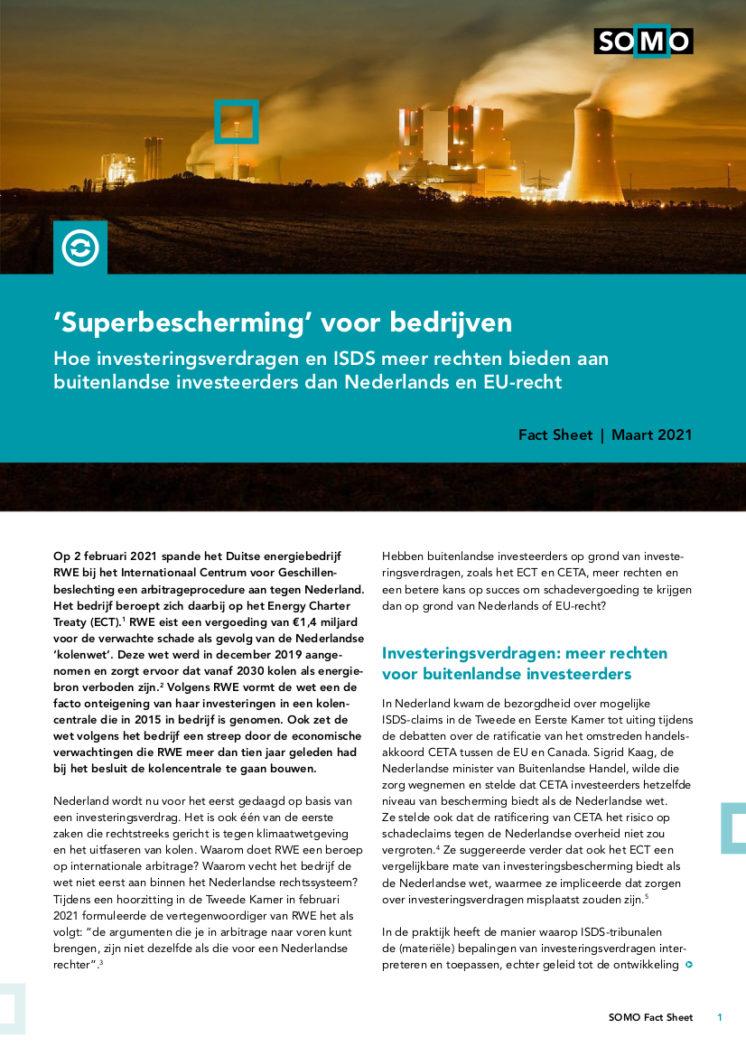 publication cover - 'Superbescherming' voor bedrijven