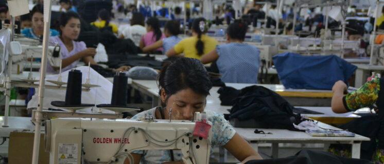 Kledingfabriek in Myanmar (geen relatie met C&A)