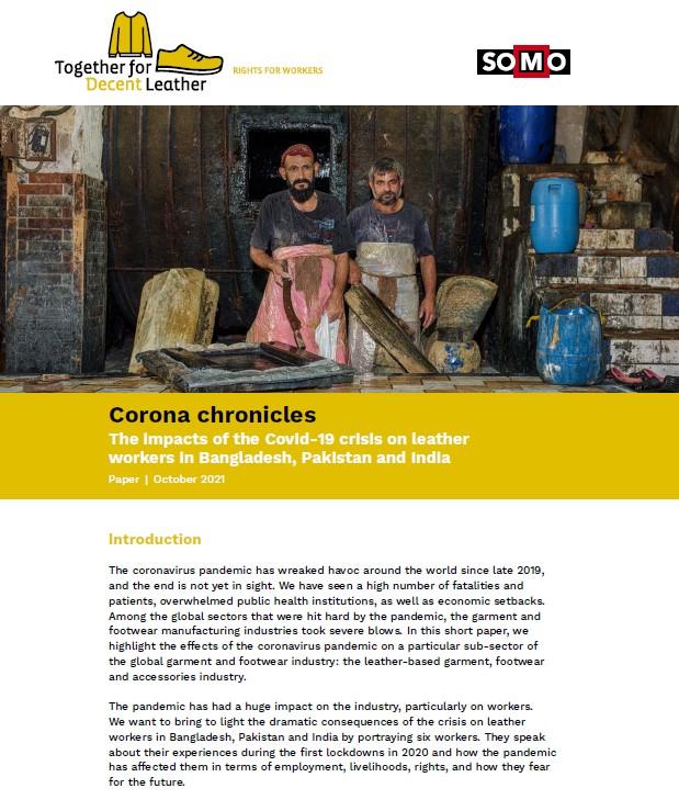 publication cover - Corona chronicles