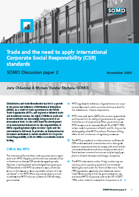 publication cover - Trade and the need to apply CSR standards
