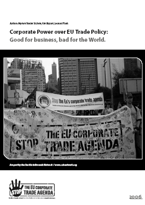 publication cover - Corporate power over EU trade policy