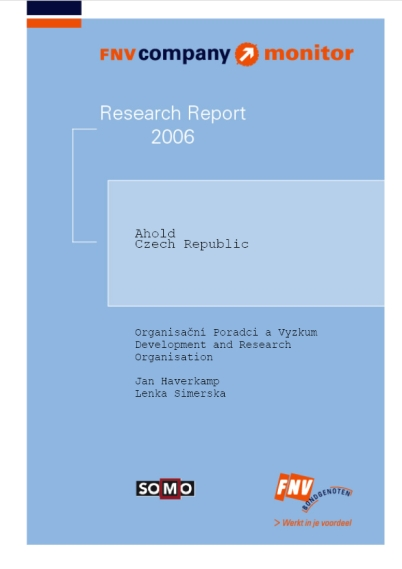 publication cover - FNV Company Monitor; Ahold Czech Republic