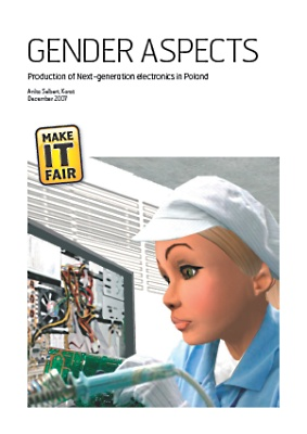 publication cover - Gender Aspects: Production of Next-generation electronics in Poland