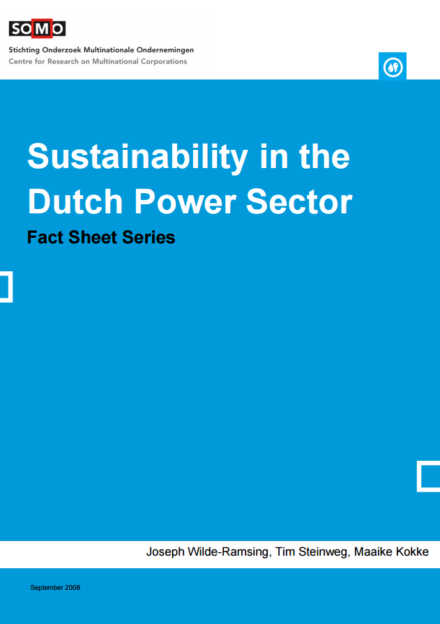 publication cover - Sustainability in the Dutch Power Sector