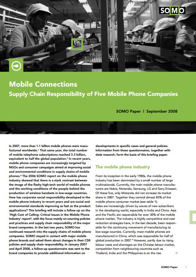 publication cover - Mobile Connections