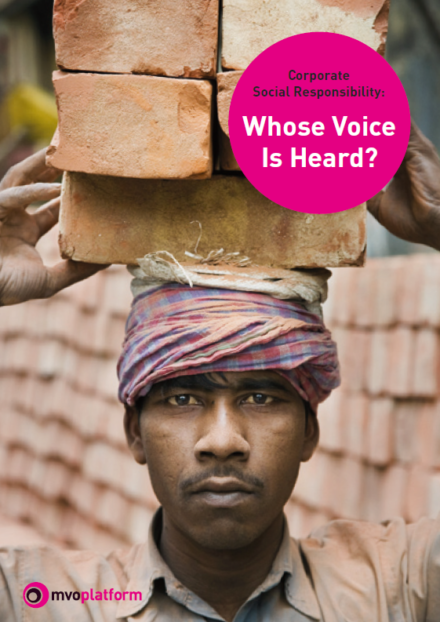publication cover - Corporate Social Responsibility: Whose Voice is Heard?
