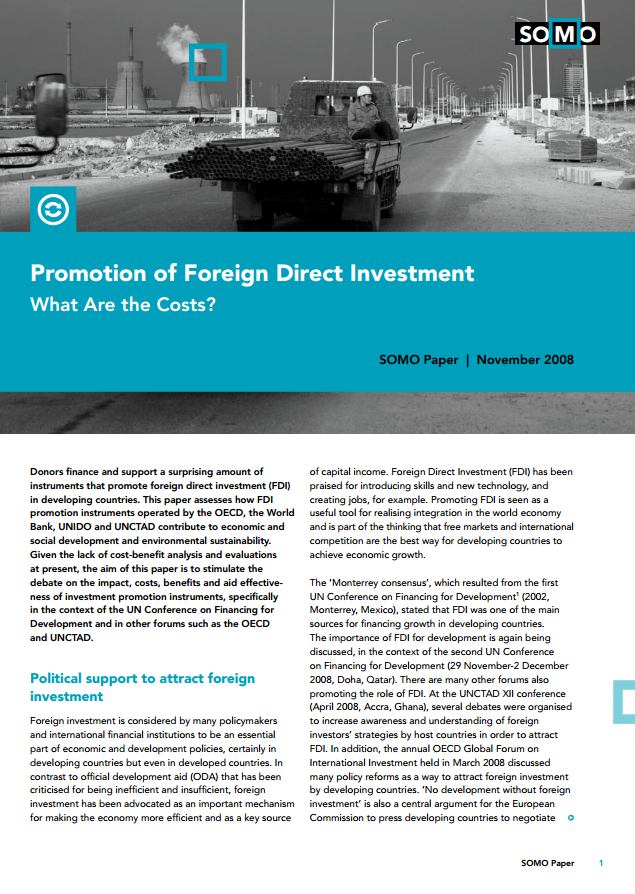 publication cover - Promotion of Foreign Direct Investment