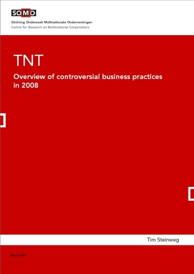 publication cover - TNT – Overview of controversial business practices in 2008