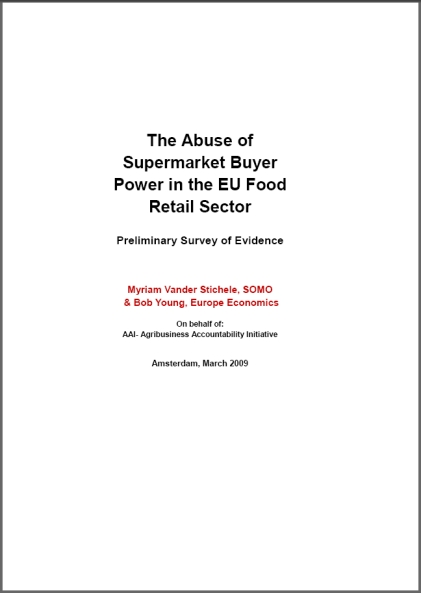 publication cover - The Abuse of Supermarket Buyers – Power in the EU Food Sector