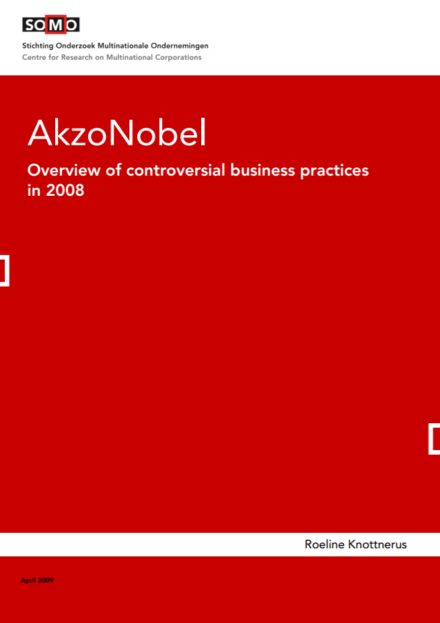 publication cover - AkzoNobel – Overview of Controversial Business Practices 2008
