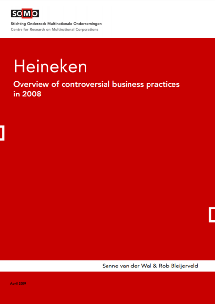 publication cover - Heineken – Overview of controversial business practices in 2008