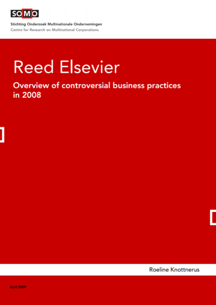 publication cover - Reed Elsevier – Overview of controversial business practices in 2008