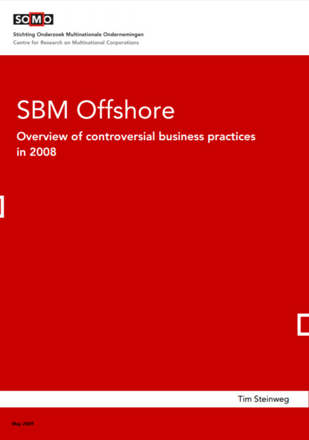 publication cover - SBM Offshore – Overview of controversial business practices in 2008