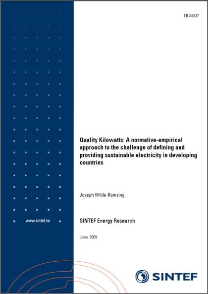 publication cover - Quality Kilowatts