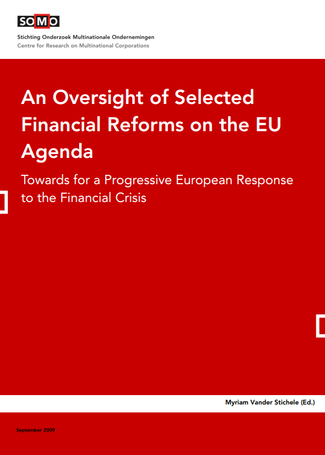 publication cover - An Oversight of Selected Financial Reforms on the EU Agenda