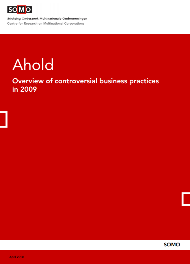 publication cover - Ahold – Overview of controversial business practices in 2009