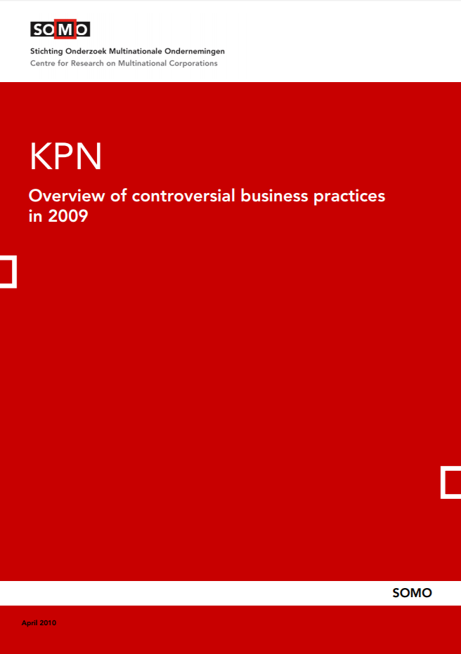 publication cover - KPN – Overview of controversial business practices in 2009