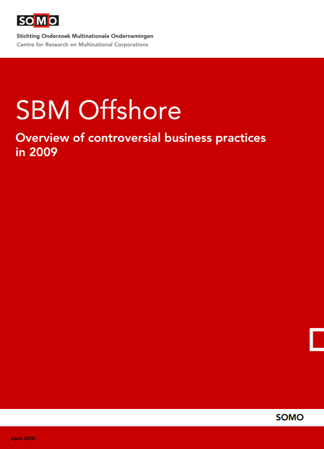 publication cover - SBM Offshore – Overview of controversial business practices in 2009