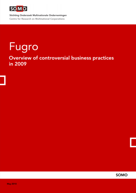 publication cover - Fugro – Overview of controversial business practices in 2009