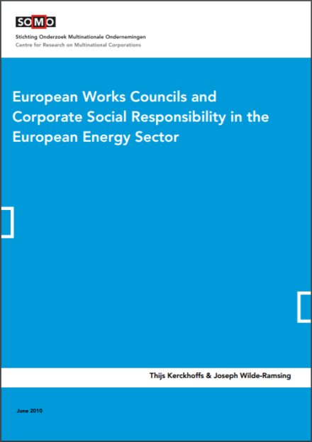 publication cover - European Works Councils and Corporate Social Responsibility in the European Energy Sector