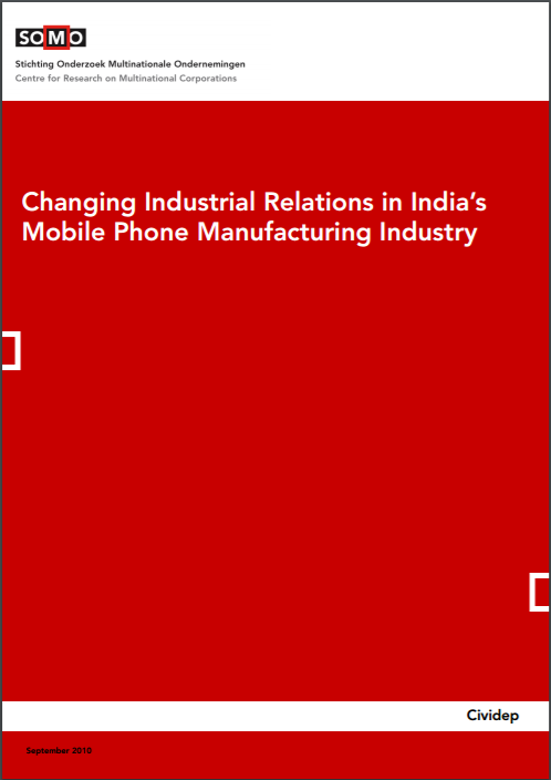 publication cover - Changing Industrial Relations in India's Mobile Phone Manufacturing Industry