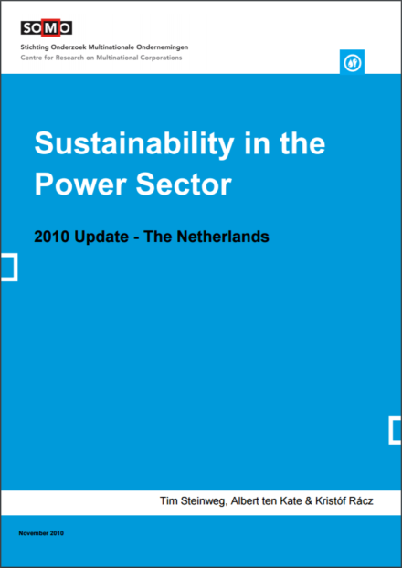 publication cover - Sustainability in the Power Sector 2010 Update – The Netherlands