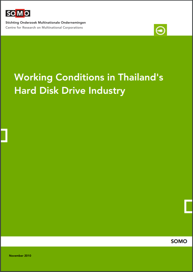 publication cover - Working Conditions in Thailand's Hard Disk Drive Industry