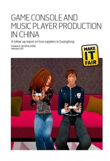 publication cover - Game console and Music player production in China
