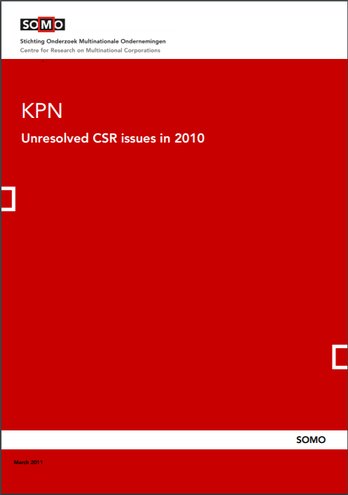 publication cover - KPN – Unresolved CSR issues in 2010