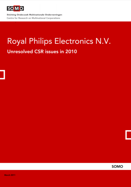publication cover - Royal Philips Electronics N.V. – Unresolved CSR Issues in 2010