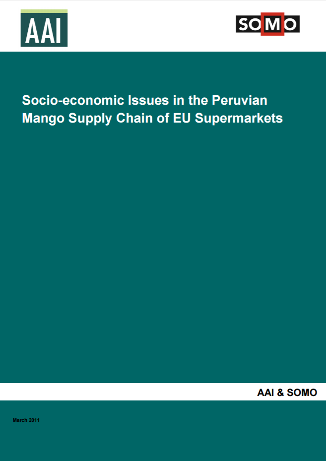 publication cover - Socio-economic Issues in the Peruvian Mango Supply Chain of EU Supermarkets
