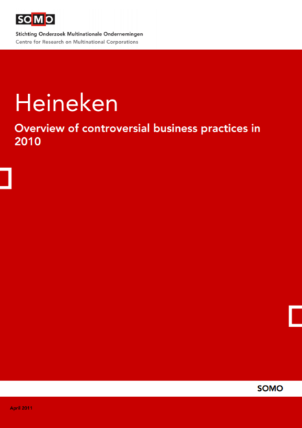 publication cover - Heineken – Overview of controversial business practices in 2010