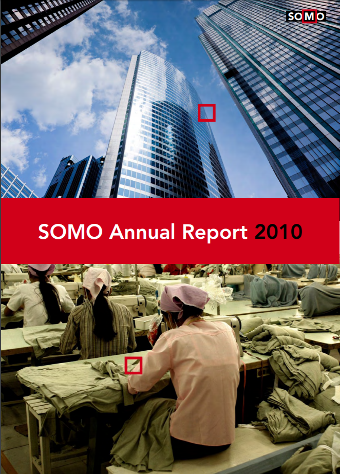 publication cover - SOMO – Annual Report 2010