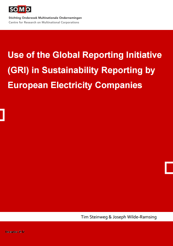 publication cover - Use of the Global Reporting Initiative (GRI) in Sustainability Reporting by European Electricity Companies